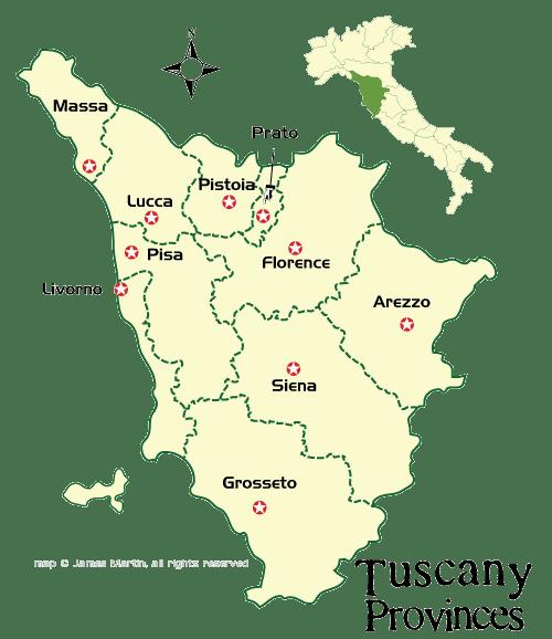 map tuscany