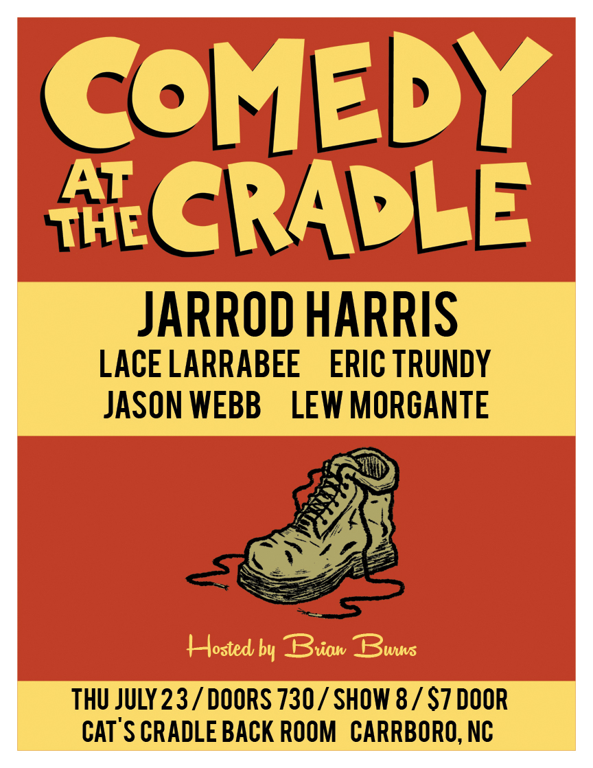 COMEDY AT THE CRADLE JULY 2015 WEB