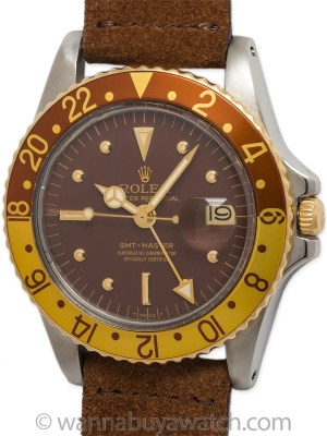 Rolex SS/14K YG GMT-Master circa 1969