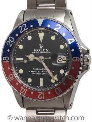 Rolex SS GMT ref 1675 circa 1982