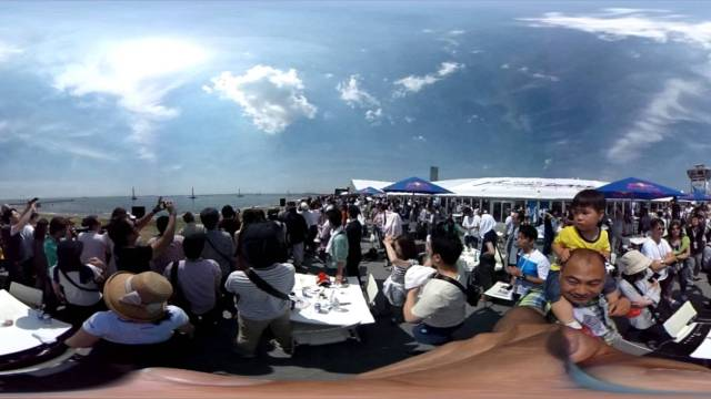 360˚ Panoramic Video) RedBull AirRace in Chiba