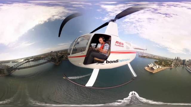 360 Video – Helicopter Ride Over Sydney Australia