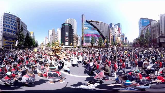 神田祭 遷座400年記念 360度動画 360ビデオ パノラマ動画