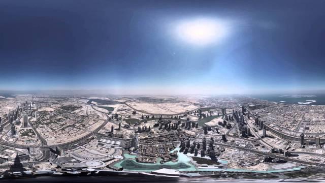 Burj Khalifa Pinnacle Timelapse – 360 degree video
