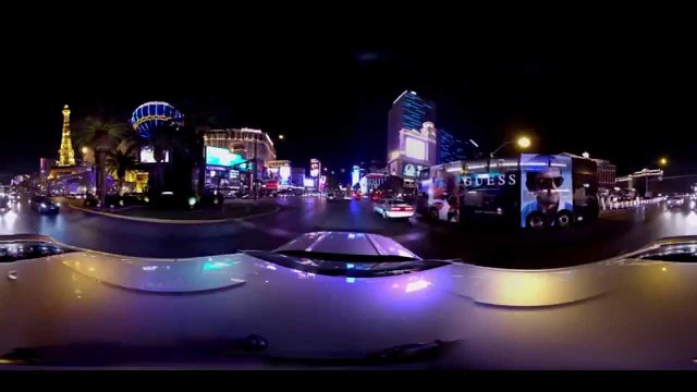Las Vegas Strip 360 Video Camera Crash