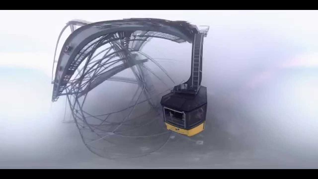 360° Skywalk in the fog, Cable Car ride Höfatsblick to Seealpe