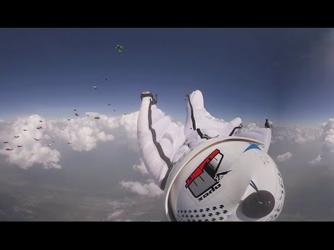 Wingsuit flight 360: Feel the skydive thrill with Russian 'birdmen' setting national record