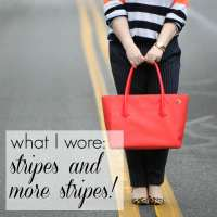 What I Wore: Stripes and More Stripes