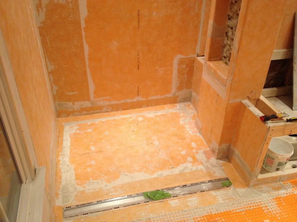 unfinished shower