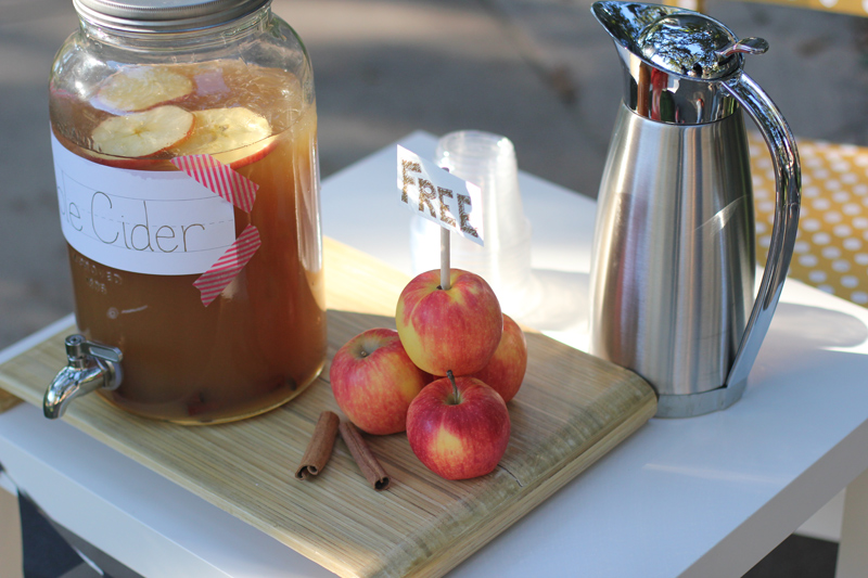 autumn apple cider stand