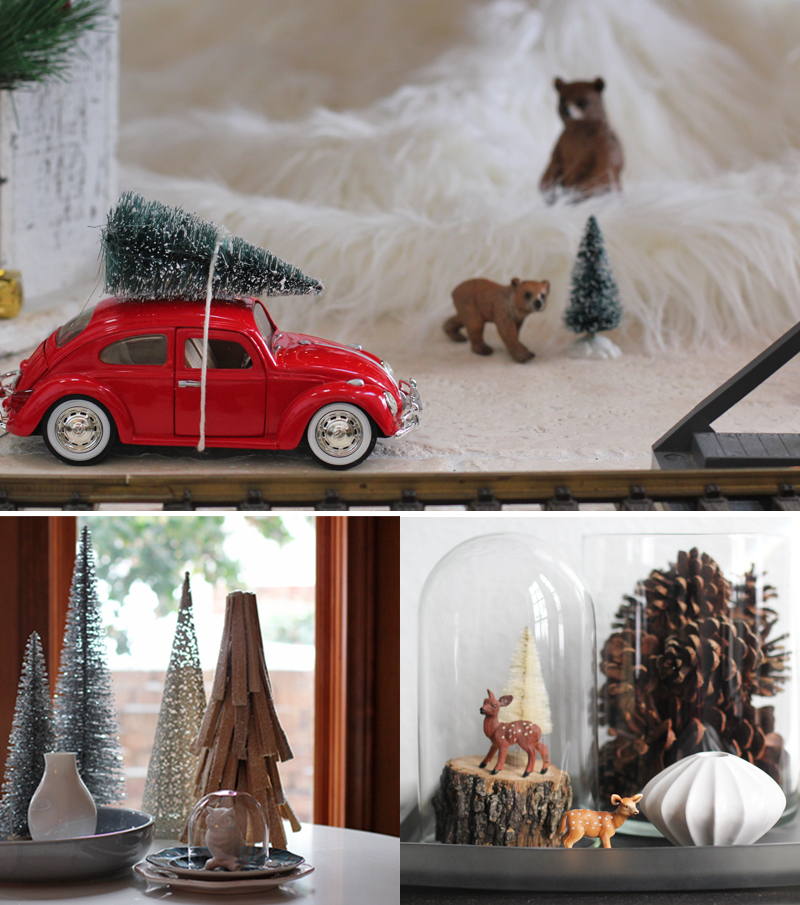 a modern rustic holiday decor