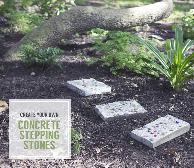 DIY tutorial for creating stepping stones with children