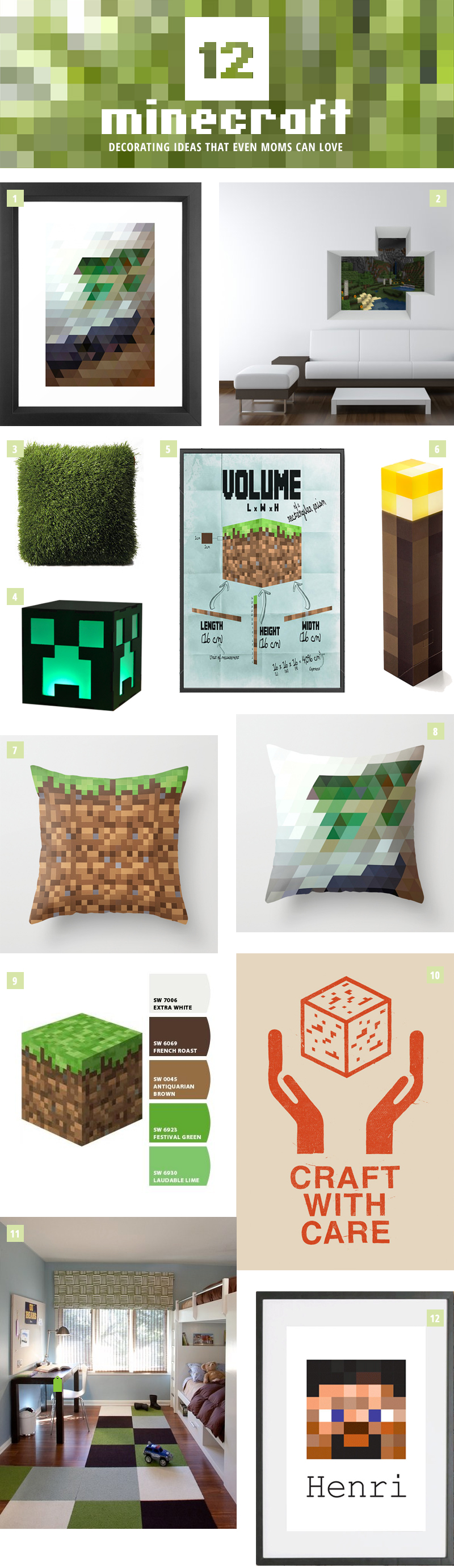 12 Minecraft Decorating Ideas that Even Moms Can Love