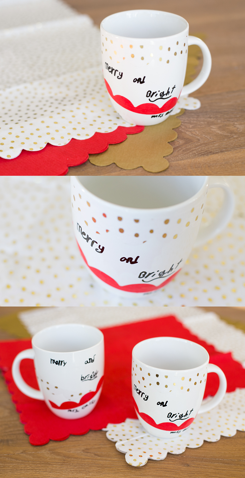 Easy diy for kids: personalized mugs as gifts for teachers during the holidays