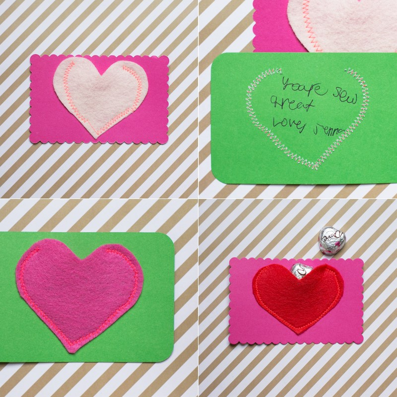 Fabric Heart Pocket Valentine's
