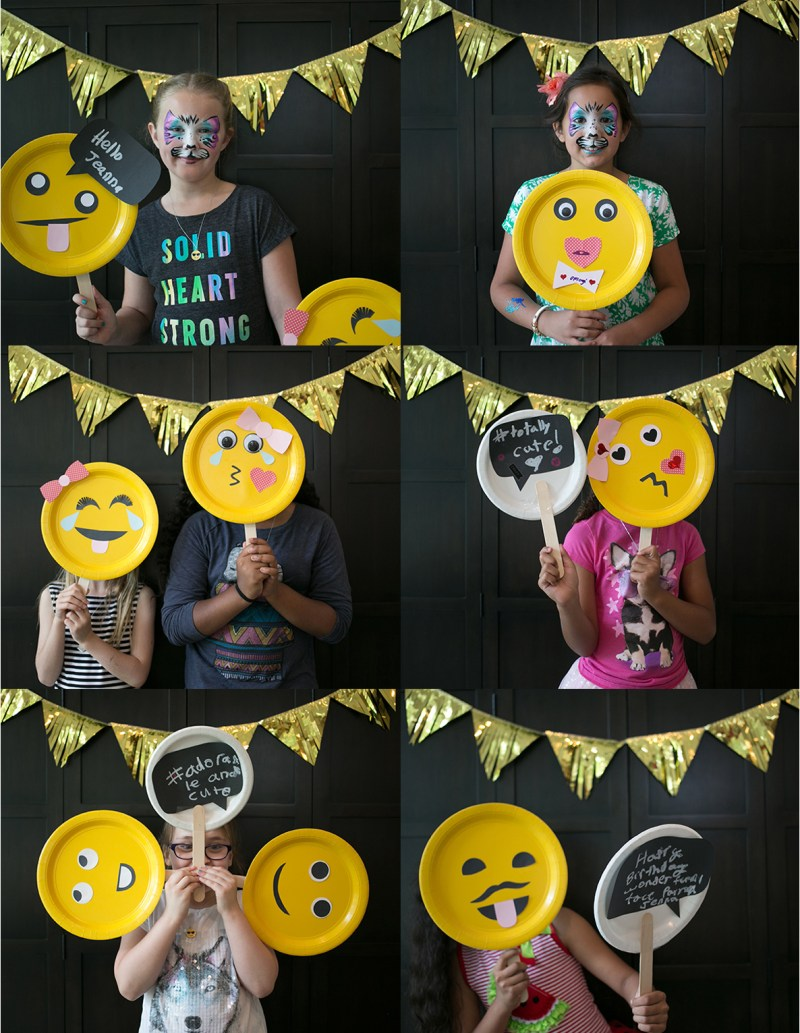 Emoji Birthday Party with an emoji-themed photo booth.