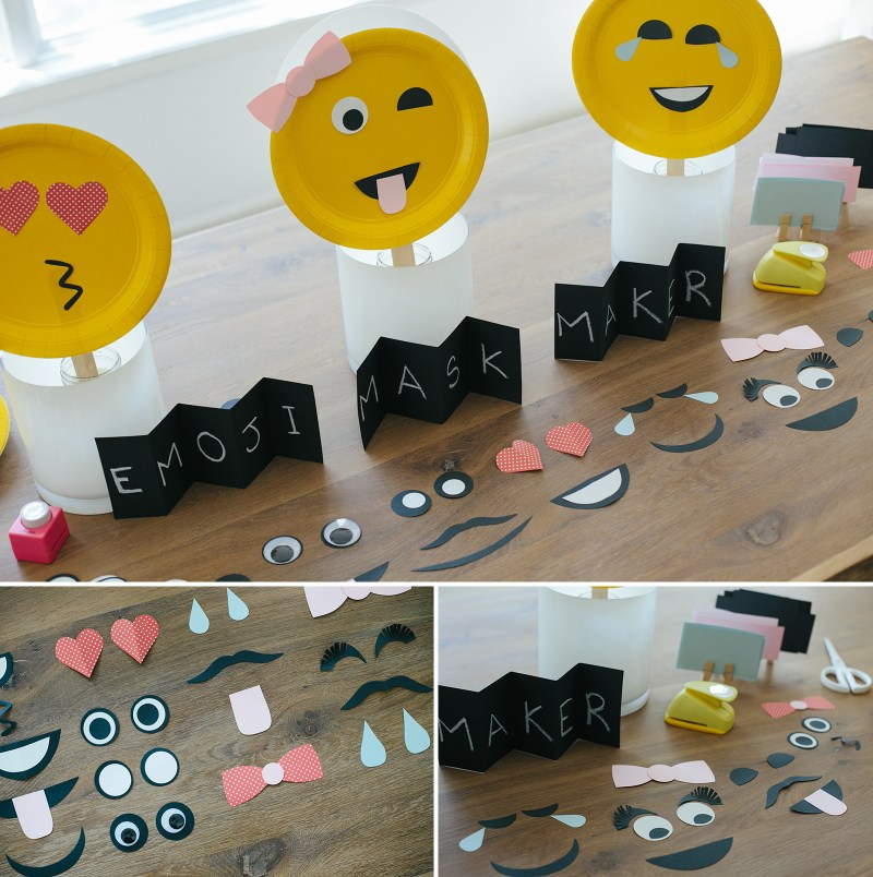 Emoji mask making and photo booth