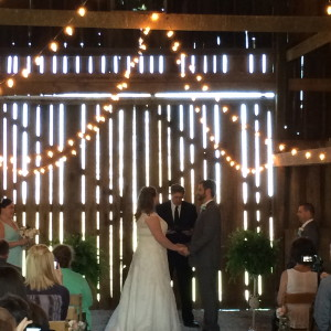 Our April 11th Barn Wedding Ceremony