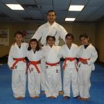 Karate Kids after their orange belt test