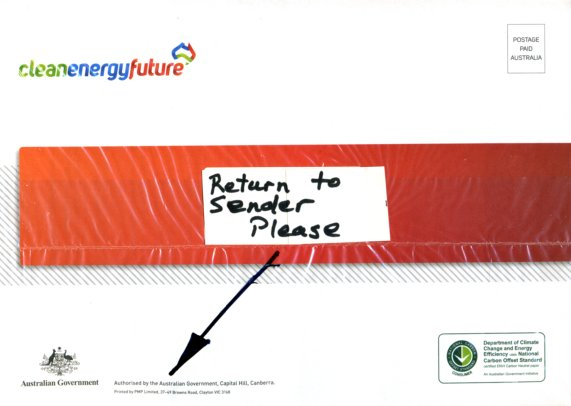 What to do with - Clean Energy Future -  junk mail