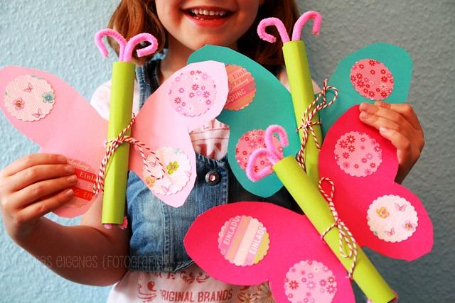 DIY Schmetterling Geburtstagseinladung.