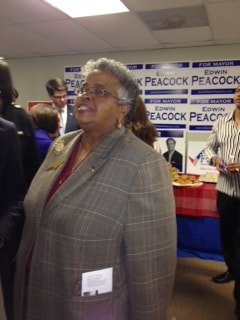 Ada Fisher, N.C. national Republican committeewoman, at opening of RNC office to engage African American voters in Charlotte. (Mary C. Curtis)