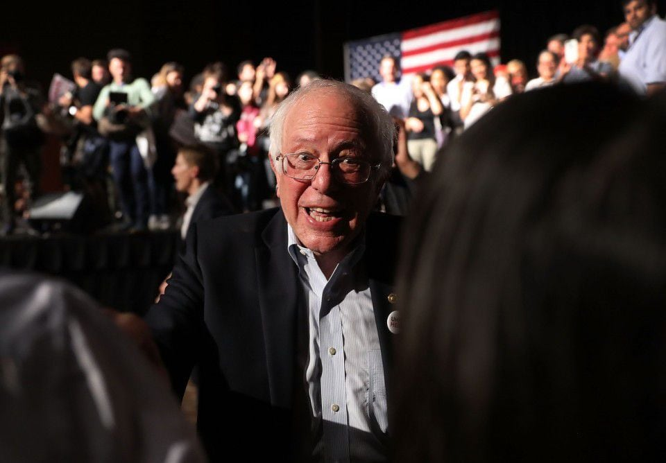 Bernie Sanders is still borrowing the Democratic Party   The     Bernie Sanders  I Vt   greets people after speaking during a rally in Miami  with the head of the Democratic Party   Joe Raedle Getty Images