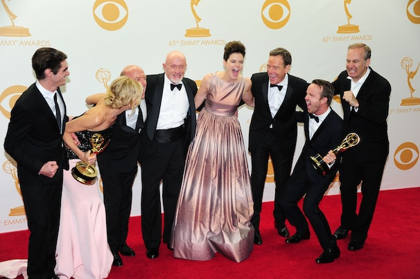 Breaking Bad cast celebrates their Emmy win