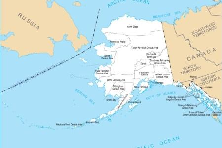 large detailed topographical map of alaska alaska large