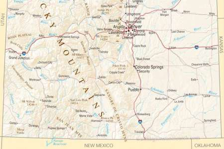 colorado state map images