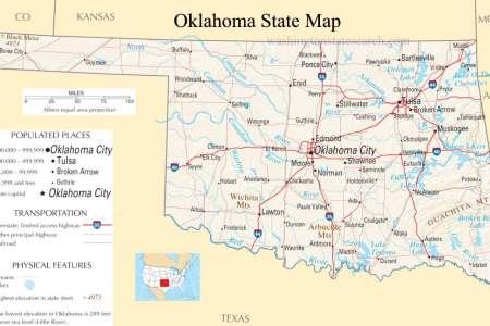 map of oklahoma, oklahoma maps mapsof.net
