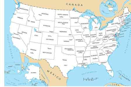 pics photos 50 states map with capitals