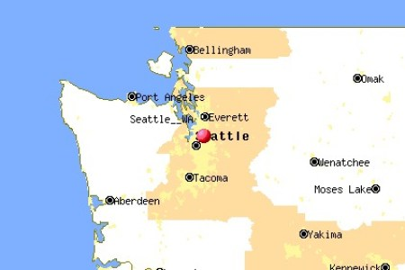 Map Of Usa Seattle - Seattle on a map of the us