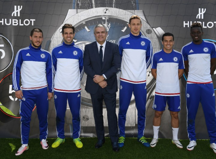 Chelsea's during the Hublot CFC Watch Launch at the Cobham Training Ground on 13th April 2016 in Cobham, England.