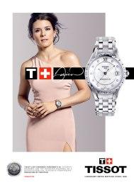 Danica Patrick dans la campagne publicitaire Tissot