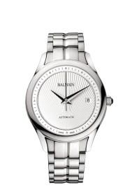Balmain Maestria Round Automatic pair watches modèle pour homme avec bracelet en acier