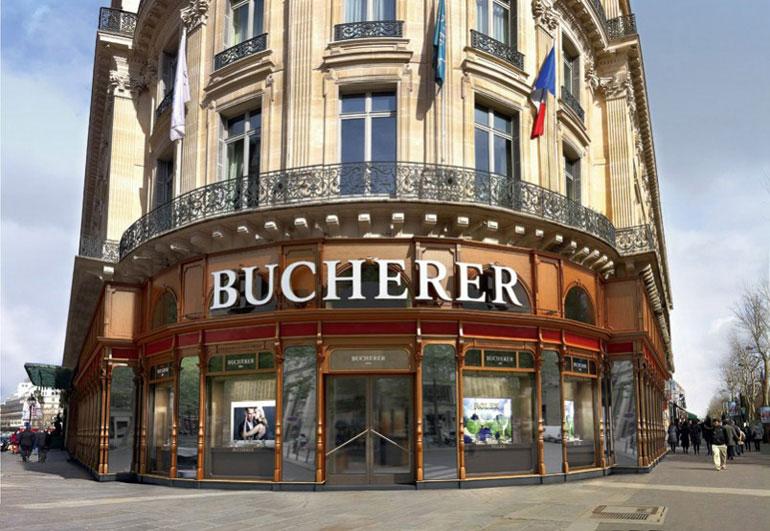 Façade du magasin Bucherer, situé boulevard des Capucines à Paris