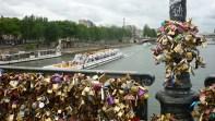 Vue de la Seine depuis le pont des Arts