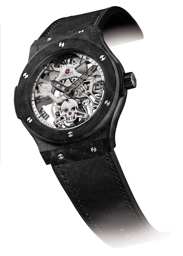 La montre Tourbillon Skull d'Hublot