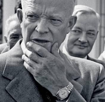 président Eisenhower de face avec Rolex