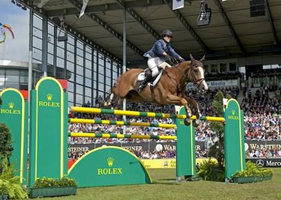 Rolex partenaire des jeux equestres mondiaux Saut obstacle avec obstacles Rolex