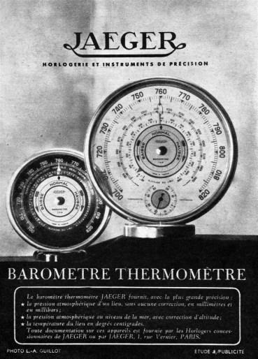 Affiche Historique Baromètre thermomètre