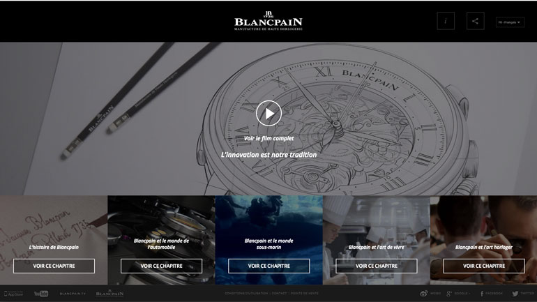 Capture Ecran Film Blancpain