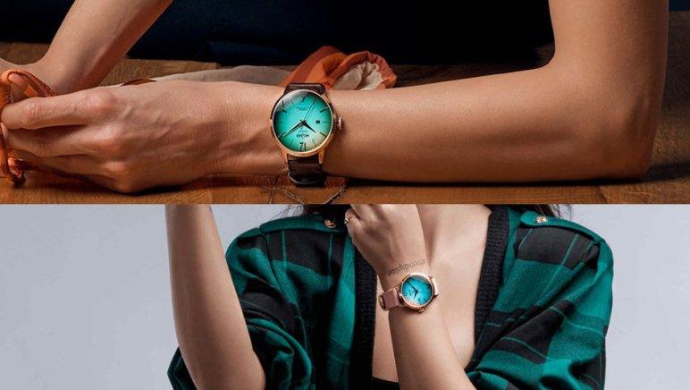 photocollage de montres Moody portées par des femmes