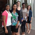 JU student Alexis Richens (far right) poses with her fellow intern colleagues at Bermuda Foundation for Insurance Studies