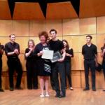 JU freshman theater major Brandon Paris recently won first place at the Drama Competition for the National Society of Arts & Letters' East Florida Chapter at Lynn University in Boca Raton.