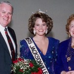 Dr. Borne, seen here on her coronation day with President Brady and Dr. Kinne, is a graduate of JU's Doctor of Nursing Practice program.
