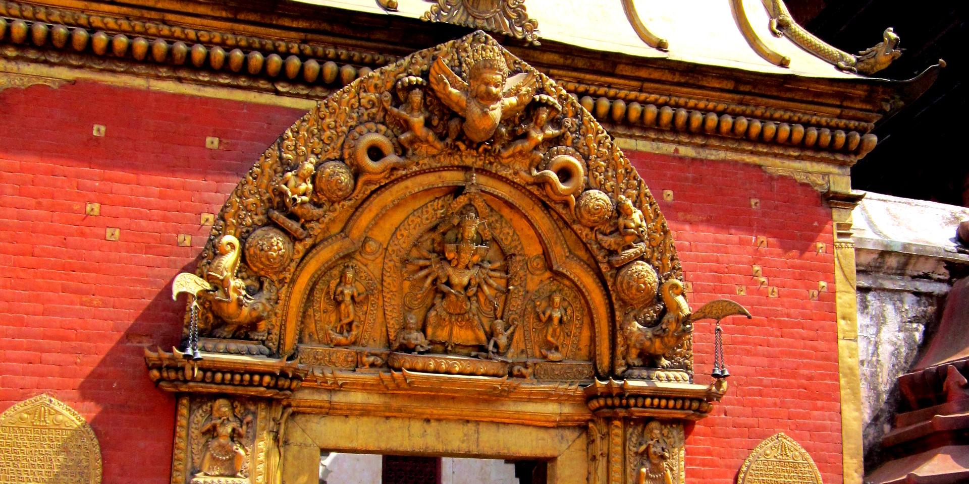 Bhaktapur Golden Gate detail.