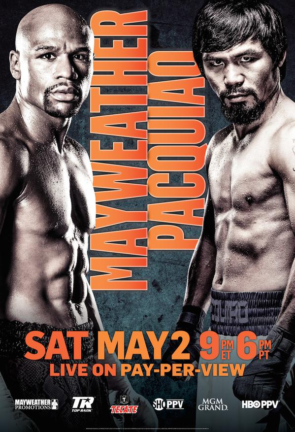 Mayweather PACQUIAO fight poster ppv middle east tfc