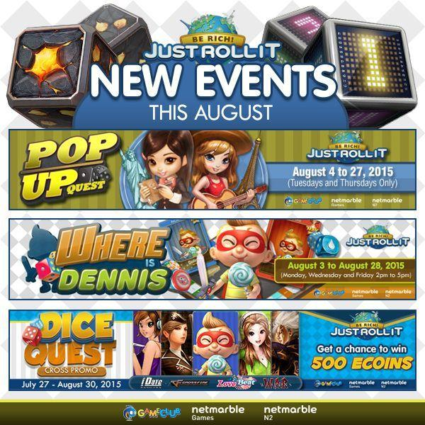 just roll it game promo events